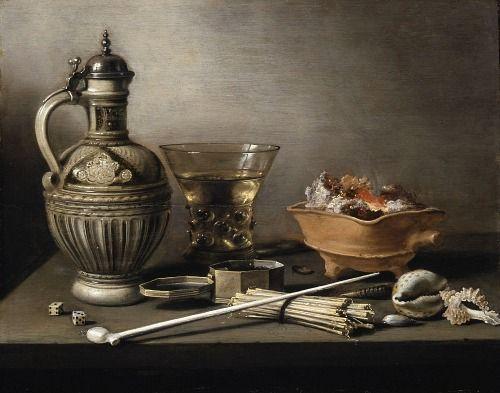 1640 Pieter Claesz (Dutch 1597-1660) ~ Still Life with Stoneware Jug