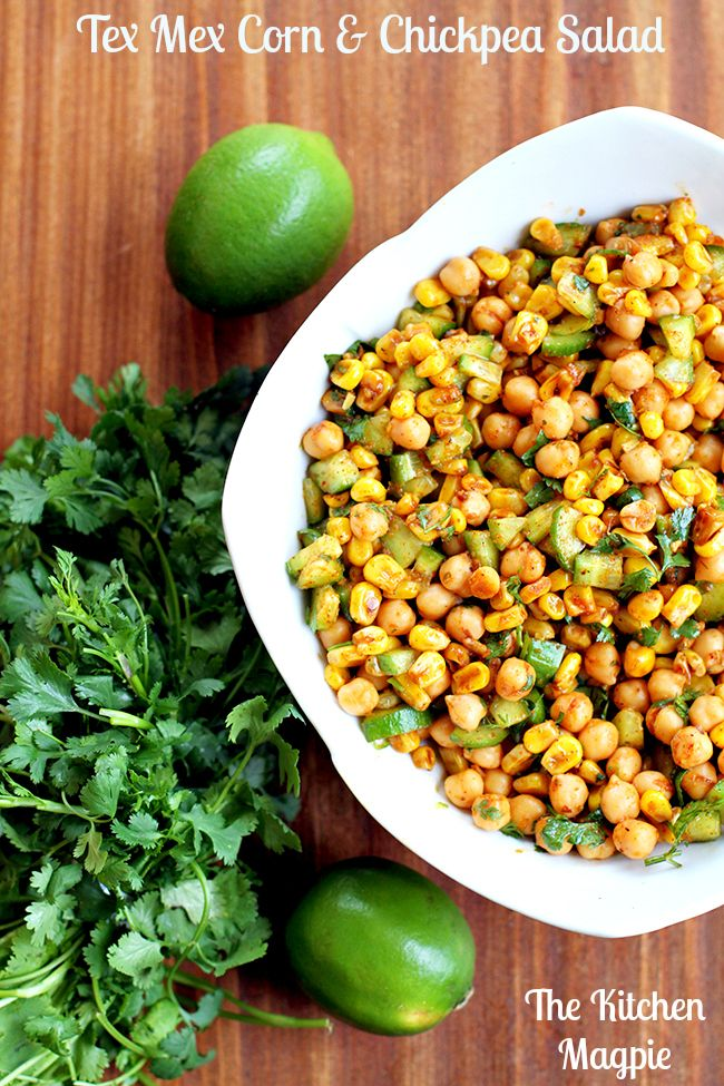 Roasted Corn & Chickpea Tex Mex Salad from @kitchenmagpie