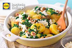 Smażone ziemniaki ze szpinakiem i fetą. Kuchnia Lidla - Lidl Polska. #kuchniagrecka
