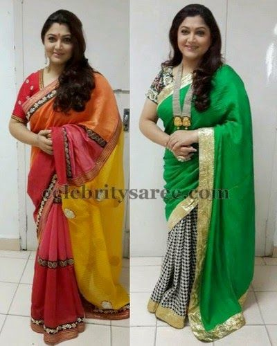 Kushboo Tissue Crepe Silk Saris | Saree Blouse Patterns