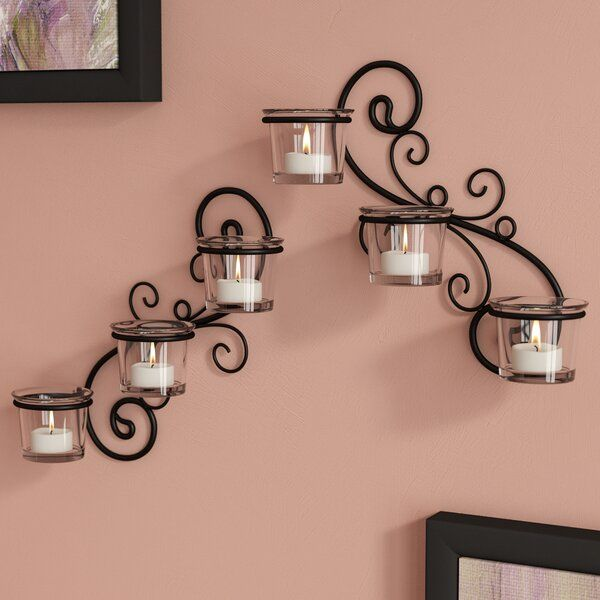 2 Piece Decorative Glass Wall Sconce Set In 2020 Glass Decor Wall Sconces Glass Wall Sconce