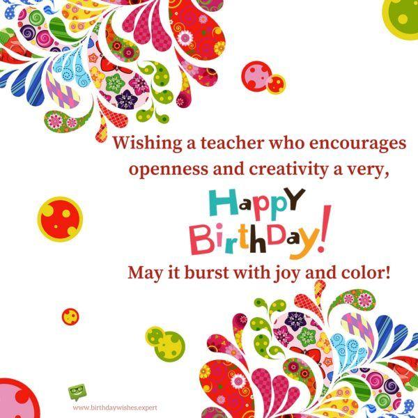 Best 25 Birthday wishes for teacher ideas – Birthday Greeting Card for Teacher