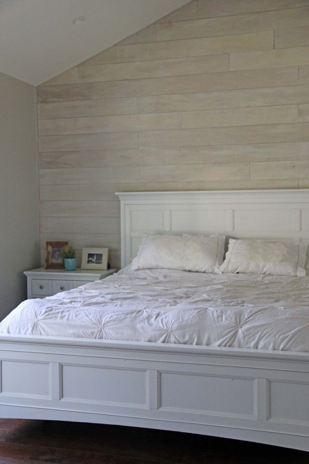 white washed plank walls diy