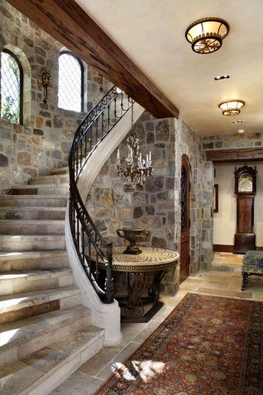 English Tudor  Hallway  TraditionalNeoclassical by Linda L Floyd Inc Interior Design