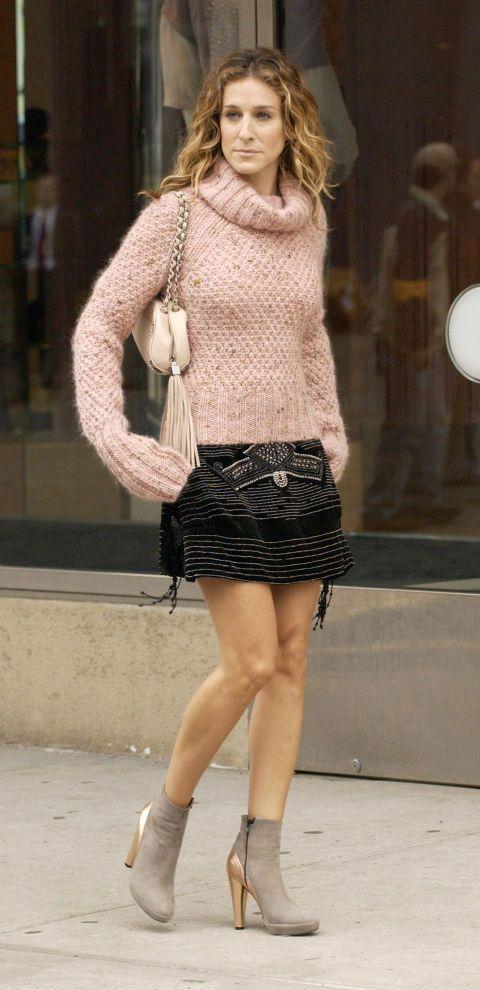 Jersey y minifalda