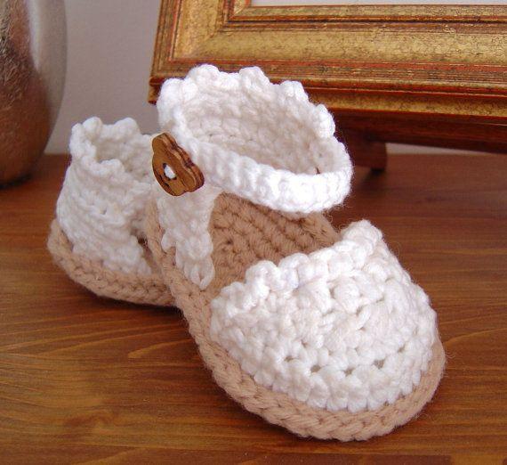 Yazlık Örgü Bebek Sandalet Modelleri | Hobilendik