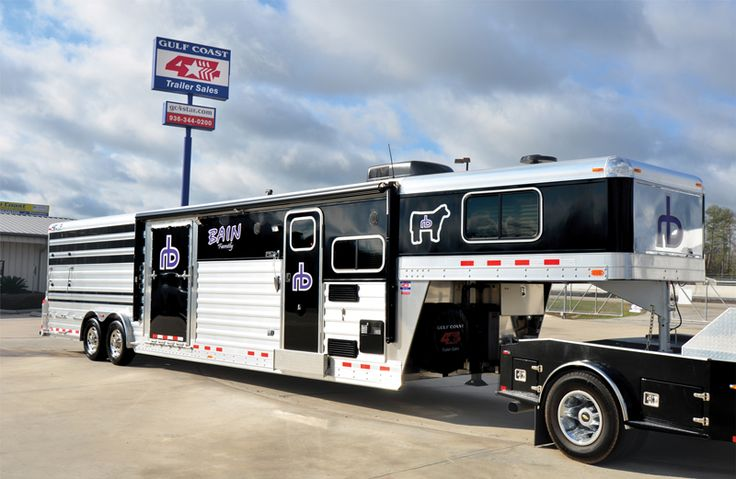 Custom 4-Star Stock Trailer Gulf Coast 4-Star Trailer Sales Willis, TX (877) 543-0733