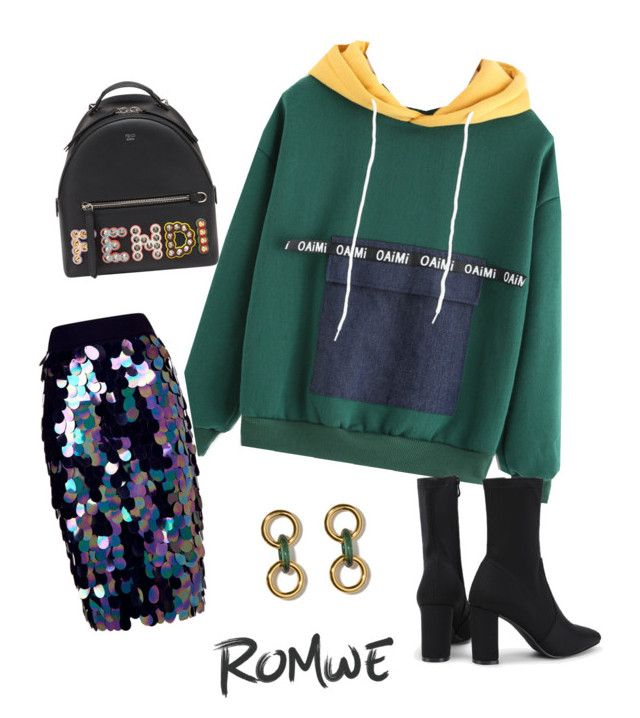"""""""Untitled #10"""" by achim-oana-lavinia on Polyvore featuring Milly and Fendi"""