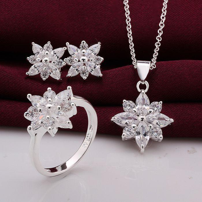 Barato S747 925, Jóias de prata banhado conjunto de jóias, Conjunto de jóias de moda brinco 546 colar 581 anel 494   8 / gwkapnra hicapzja, Compro Qualidade Conjuntos de jóias diretamente de fornecedores da China: