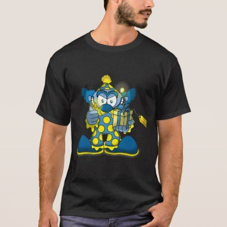 Jokey Clown (Dark Shirt) T-Shirt - click/tap to personalize and buy
