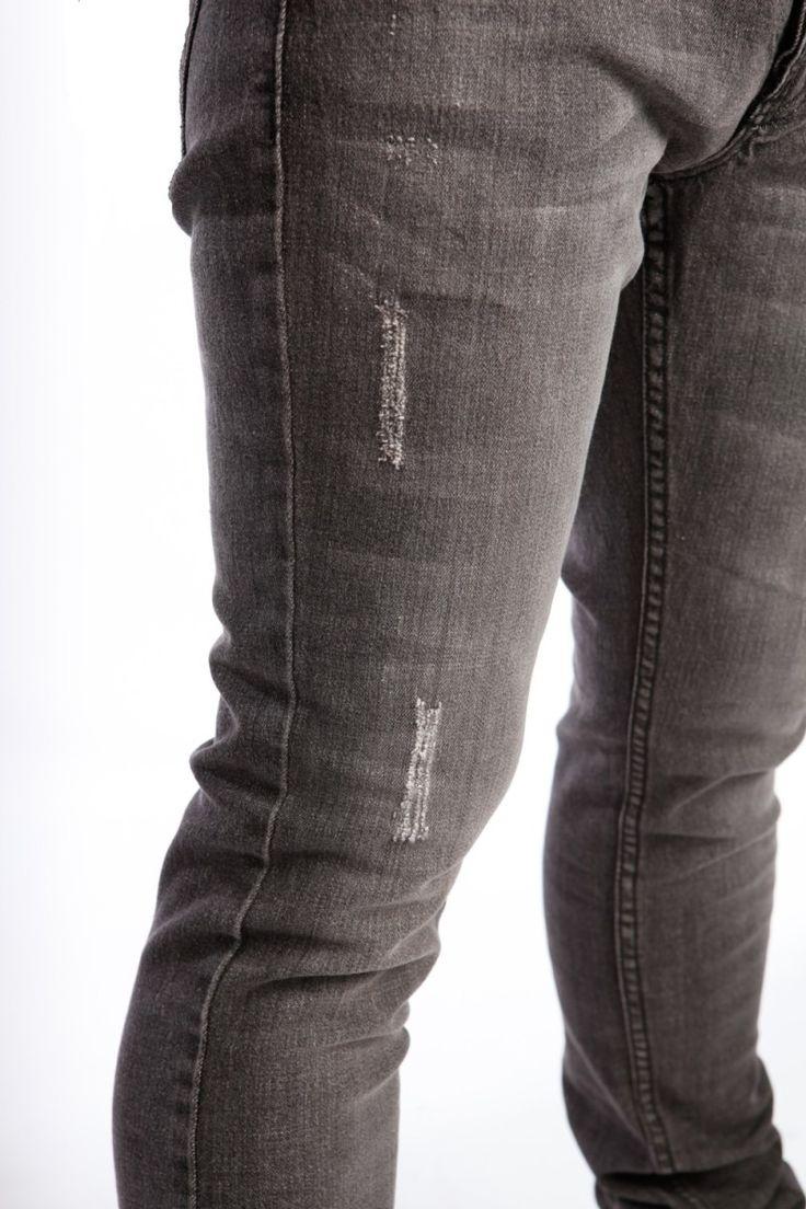 Gray Mens Skinny Jeans
