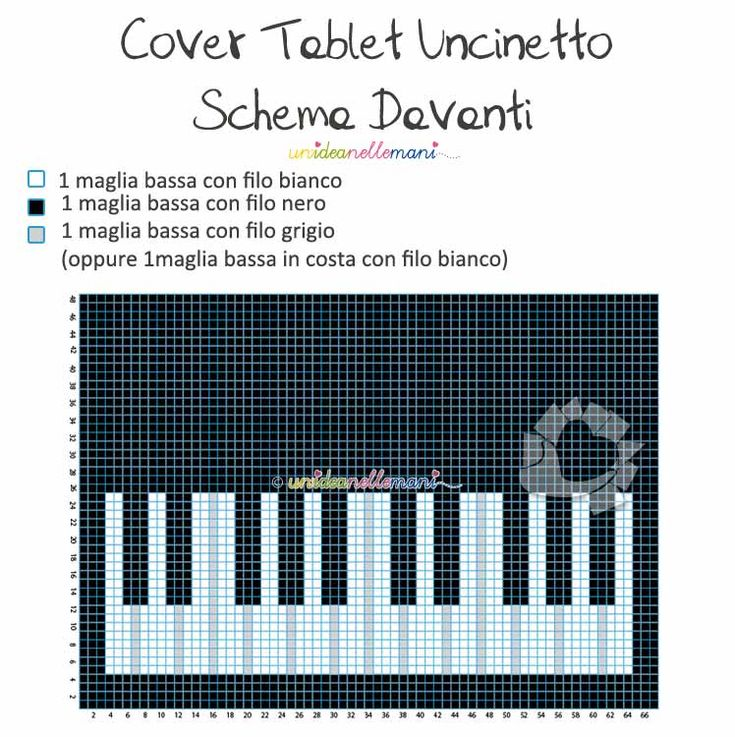 schema uncinetto cover tablet