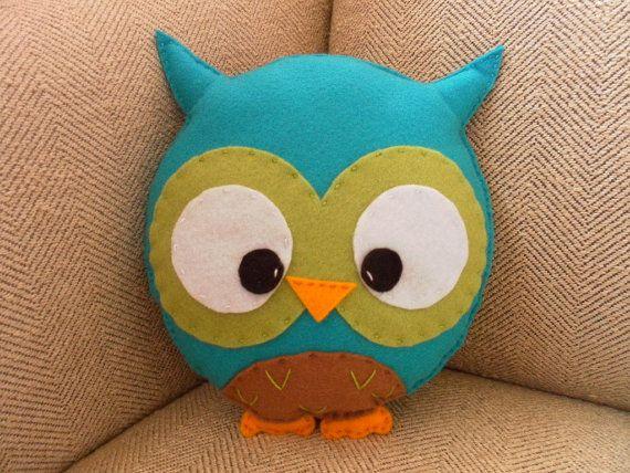 Felt owl pillow