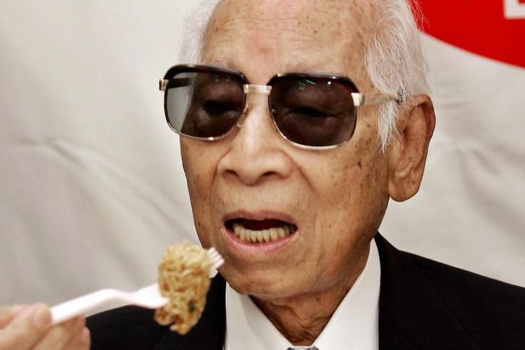 Momofuku Ando (1910 - 2007) was a Taiwanese-Japanese businessman who founded Nissin Food Products Co., Ltd. He is famed as the inventor of instant noodles and Cup O' Noodles.