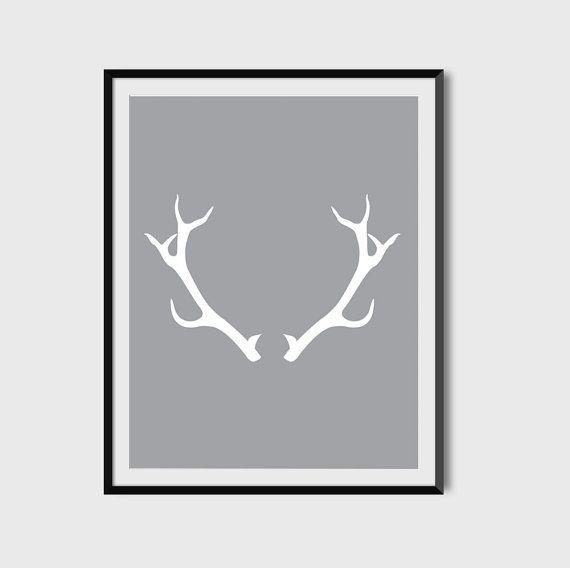 Deer Antler Printable Poster