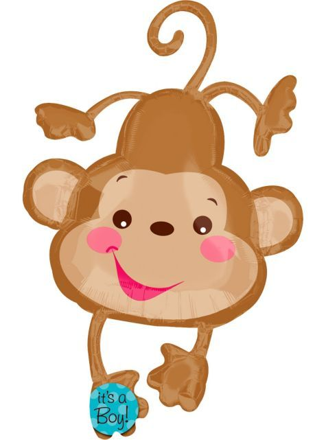 137 best baby shower images on pinterest monkey baby showers shower ideas and boy shower - Monkey balloons for baby shower ...