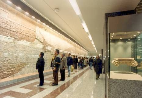 Athens. Syntagma Square Metro Station. The metro in athens is relatively new and easy to navigate and use.   As they excavated to build the Metro and the stations, of course they found thousands of artefacts, like an archaeological dig -  so they have left them, on display for the travelling public to admire.  Athens is a city built on a city built on a city.