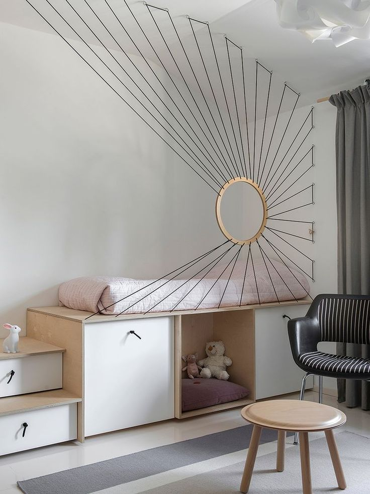 Hochbett, Schlafebene Plywood Furniture Kidsroom W…