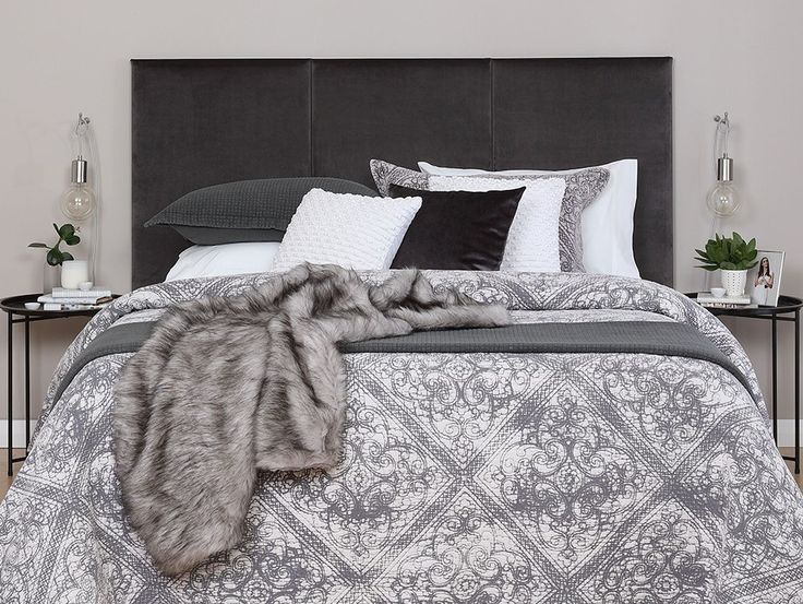 3 x King Singles - Achieve understated luxury with 3 king singles covered in mystic charcoal velvet fabric.