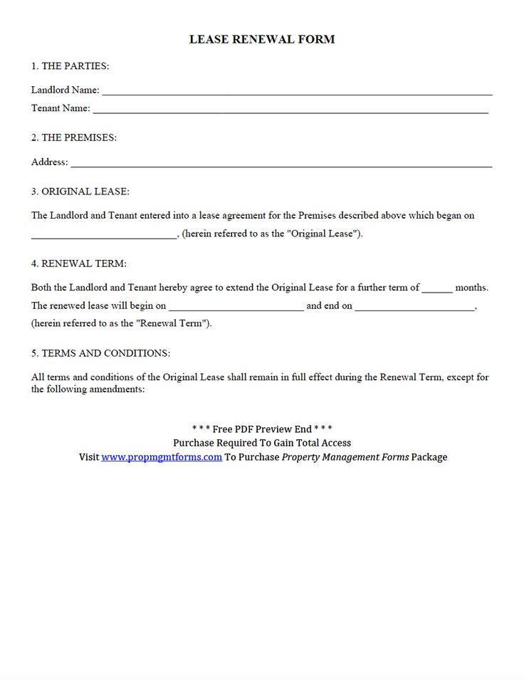 lease renewal form