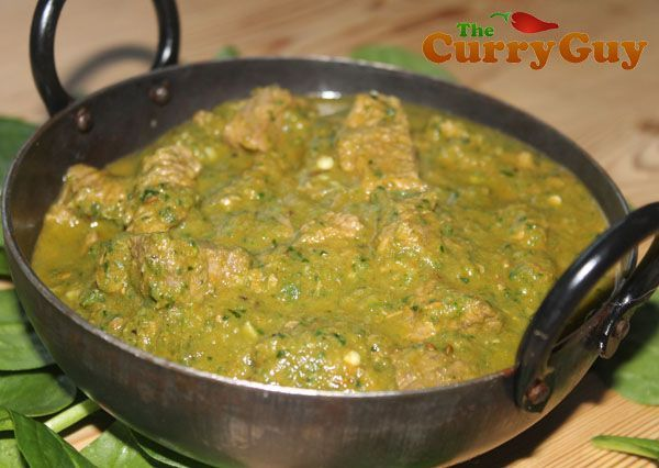 This is British Indian Restaurant (BIR) style lamb saagwala. It is so good! In this recipe I use fresh spinach instead of tinned spinach which is normally used at restaurants.   This together with fresh green chillies gives the dish a bright and exciting flavour. Make this dish and you will find it hard to put your fork down!