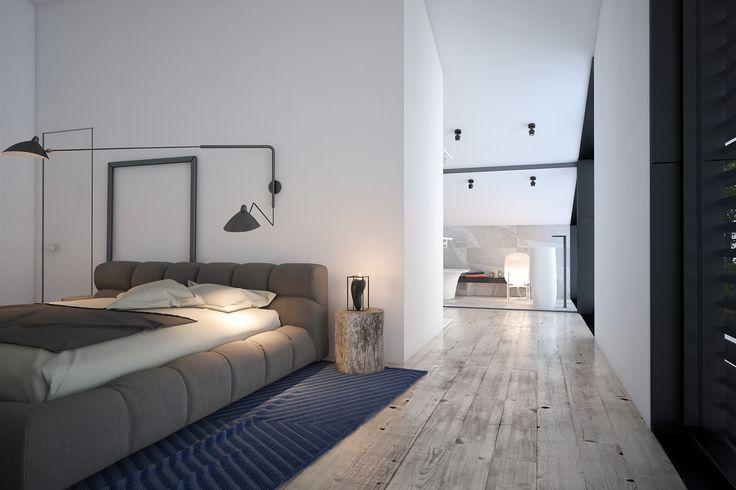 Минималистичная спальня. Уютный интерьер для отдыха в загородном доме, который понравится любому другу хозяев этого гостевого дома.