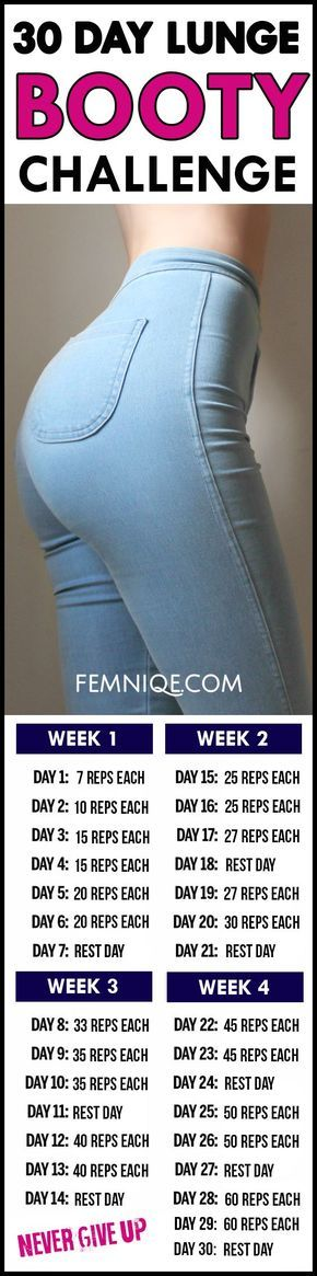 How To Get A Bigger Butt Workout - 30 Lunge Challenge for beginners Workout- Doing this routine is best exercise for butt and thighs. After a week you will start to see noticeable changes!
