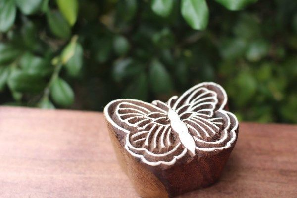 Butterfly Woodblock Stamp - Fair Trade