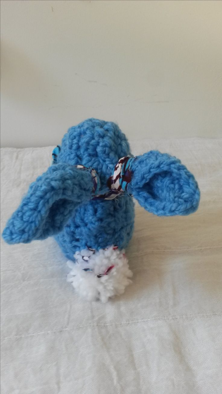 Litlle blue bunny crochet from my etsy shop Zuberlulu