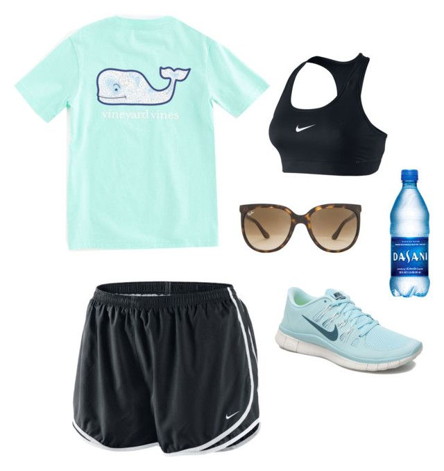 """""""Long band camp days"""" by gingergirll ❤ liked on Polyvore featuring moda, NIKE, Ray-Ban i Vineyard Vines"""