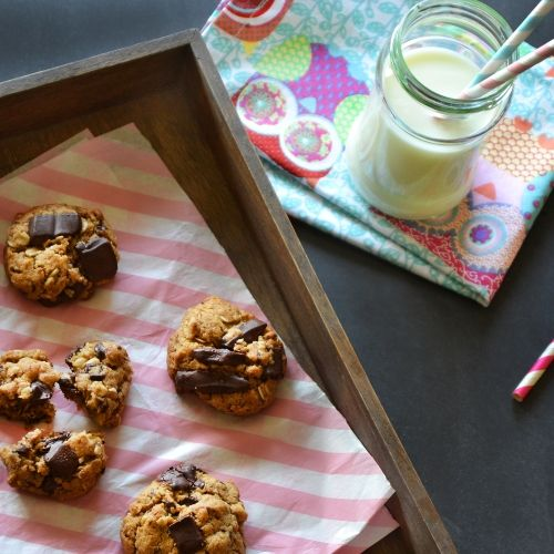 Gluten-free peanut butter and chocolate chip cookies | Gluténmentes, mogyoróvajas-csokis cookie | #glutenfree