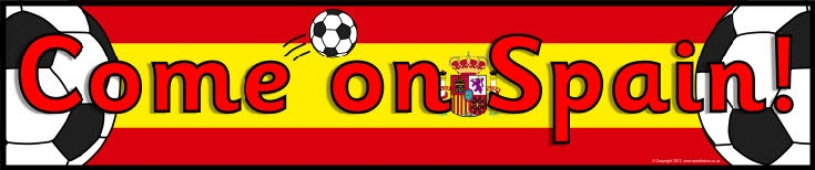 Spain football/soccer display banners