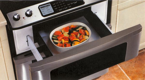 microwave drawer. this is cool even if a little awkward looking.