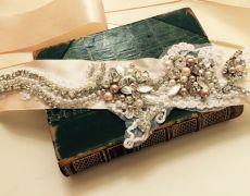 Wedding Belt, Bridal Belt, Sash Belt, Crystal Rhinestone -by Art Accessories made with love on https://www.breslo.ro/aura.angeline