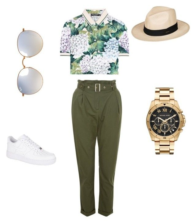 """""""Untitled #18"""" by sarii-syafitri on Polyvore featuring Dolce&Gabbana, NIKE, Roxy, Michael Kors and Ray-Ban"""