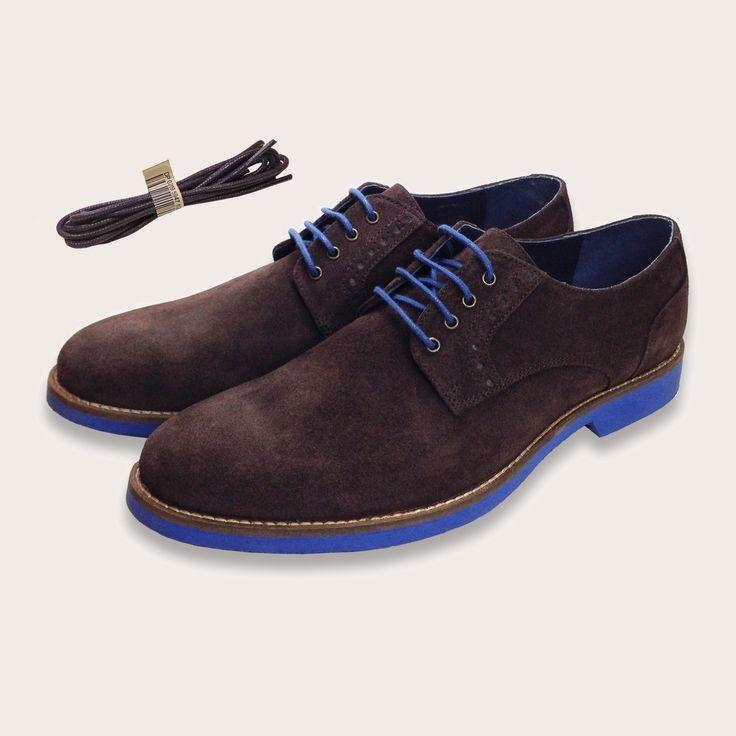 Camden Blue Suede Shoes