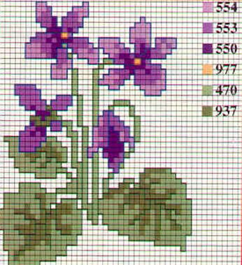 free chart violet #crossstitch