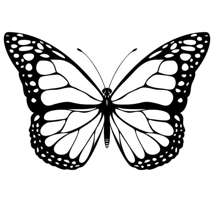 Dibujos de mariposas en blanco y negro