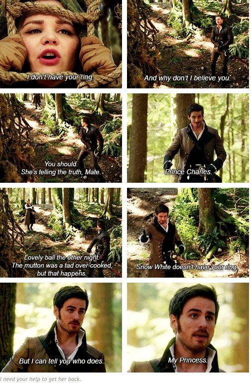 Love Hook's sense of humor! Commenting about the food:) Same ol' Hook! And HE CALLED EMMA HIS PRINCESS!!!!! #CAPTAINSWANFOREVER