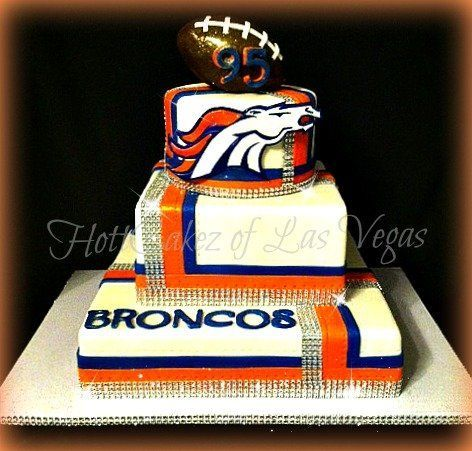 Denver Broncos Birthday cake - CakesDecor