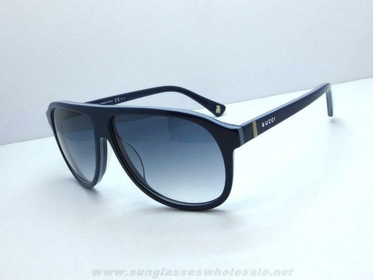black friday deals on oakley sunglasses yryv  Gucci GG 5000 C S Pilot Plastic Frame Sunglasses Blue Grey For Black Friday