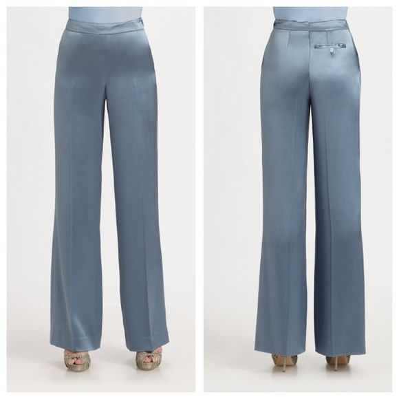 NWT Ralph Lauren Collection Silk Pants Make Offers Butter smooth silk wide leg pants by Ralph Lauren Collection.  The Shandy pant is made in Italy. Size 8. Includes extra buttons.  Make me an offer!! Brand new with tags, originally $1,798! Ralph Lauren Pants Wide Leg