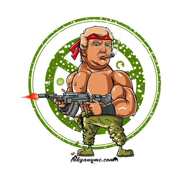 Check out this awesome 'Donald+Trump+as+Rambo' design on @TeePublic!