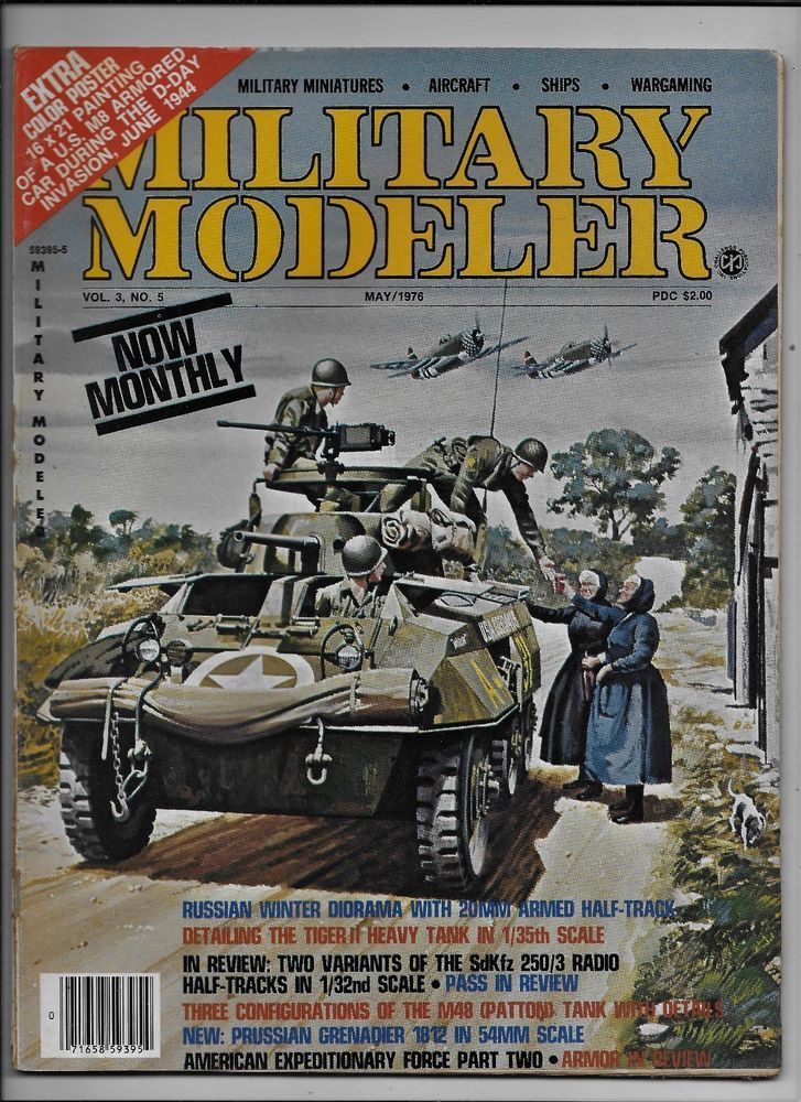 Military Modeler vol. 3 no.5 May 1976 Russian Winter Tiger II M48 Patton SdKfz