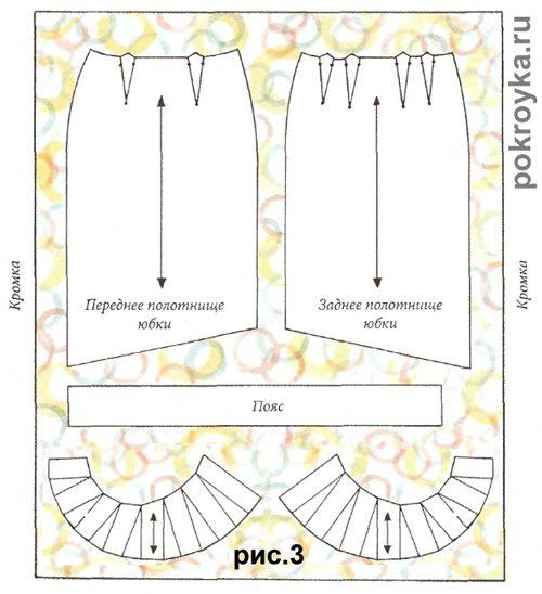 Выкройка прямой юбки с воланом | pokroyka.ru-уроки кроя и шитья