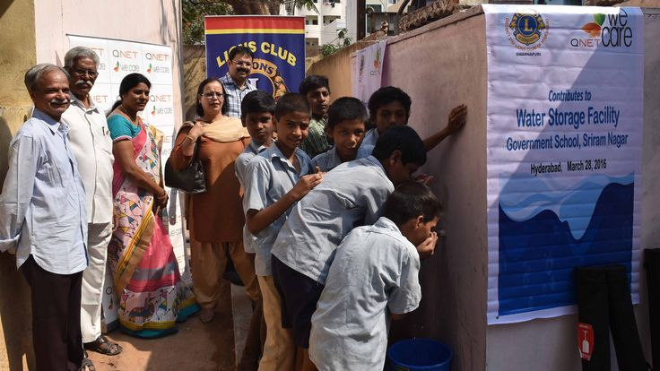 Hyderabad Swarnapuri #LionsClub (India) provided a storage facility for safe drinking water to a high school