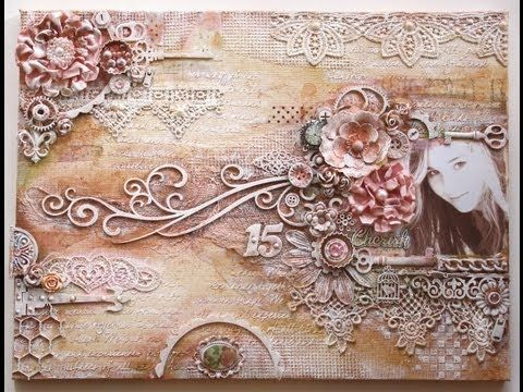 Mixed Media Canvas by Gabrielle Pollacco Video Tutorial