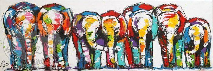 17 beste idee n over olifant schilderijen op pinterest olifant kunst olifanten en olifant canvas - Kleur schilderij ingang ...