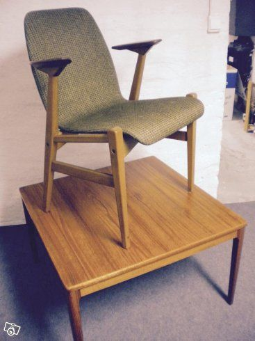 Möbler 50-tal, Köpenhamsbord, stolar, Lampa | Skåne