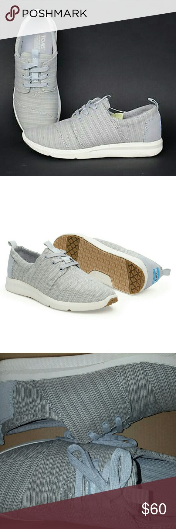 NIB Tom's Del Rey sneaker sz 8 Brand new Tom's sneaker! Color is called vapor blue, but as you can see, the color is really very mild blue or more grey. Very clean look and style! TOMS Shoes Sneakers